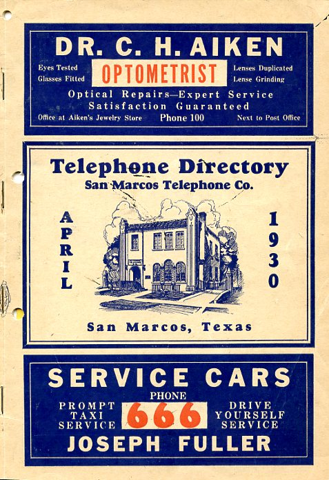 Cover, 1930 Directory